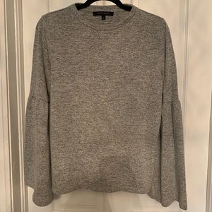 Light Gray Sweatshirt w/Bell Sleeves